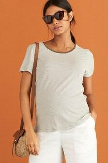 Khaki Maternity Jersey T-Shirt