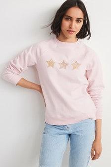 Pink Sugar Graphic Crew Sweater
