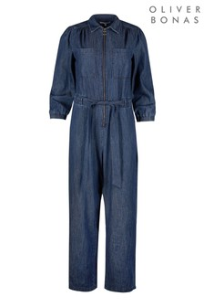 Oliver Bonas Chambray Blue Jumpsuit
