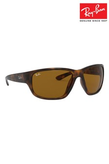 Ray-Ban® Tortoiseshell Effect Wrap Round Sunglasses