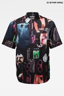 G-Star Black Bristum 1 Pocket Service Straight Shirt