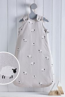 Grey Mini Sheep 2.5 Tog Sleep Bag
