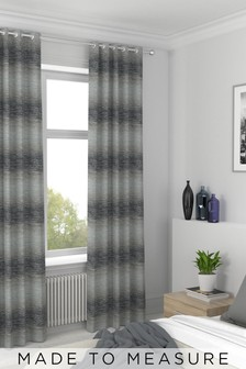 Ombre Stripe Grey Made To Measure Curtains
