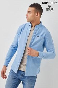 Superdry Blue Classic University Oxford Shirt