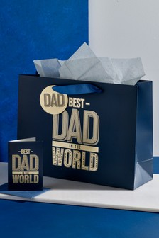 Father's Day Bag, Card & Tissue Set