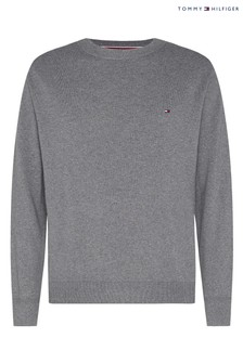 Tommy Hilfiger Grey Pima Cotton Cashmere Sweater
