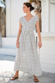 Mono Spot Short Sleeve Maxi Dress