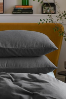 Set of 2 100% Cotton Supersoft Brushed Pillowcases