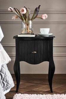 Black Vinny 1 Drawer Bedside Table