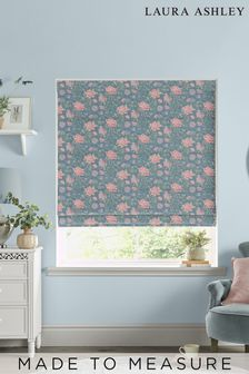 Laura Ashley Tapestry Floral Dusky Seaspray Made to Measure Roman Blind