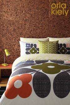 Orla Kiely Placement Flower Tile Cotton Duvet Cover