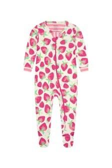 Hatley Baby Girls Pink Delicious Berries Organic Cotton Babygrow