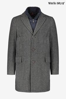 White Stuff Grey Topping Wool Revere Coat