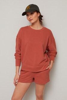 Rust Co-ord Jersey Sweatshirt