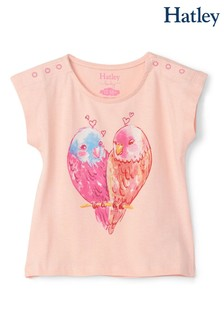 Hatley Pink Cozy Budgies Baby T-Shirt