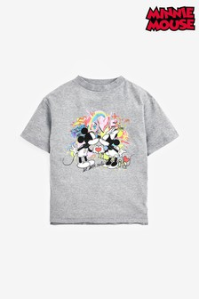 Grey License Disney™ Minnie & Mickey Graffiti T-Shirt (3-16yrs)