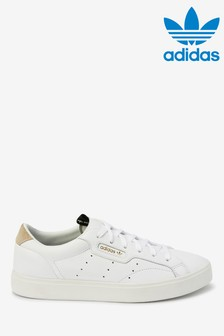 adidas Originals White Sleek Lo Trainers