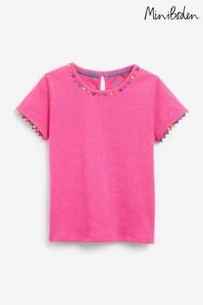 Boden Pink Charlie Pom Jersey T-Shirt