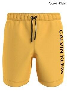 Calvin Klein Yellow Intense Power Drawstring Swim Shorts