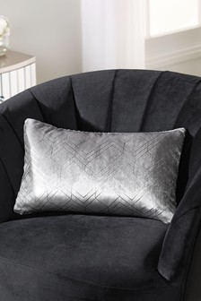 Metallic Velvet Geo Rectangle Cushion