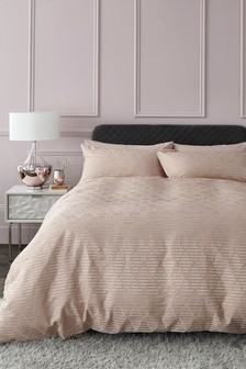 Shiny Geo Jacquard Duvet Cover And Pillowcase Set