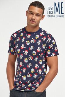 Navy Matching Family Mens Disney™ Christmas T-Shirt