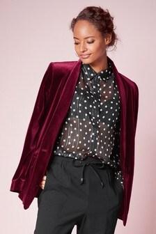 Magenta Velvet Jacket