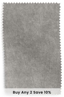 Mid Grey Fine Chenille Fabric By The Roll