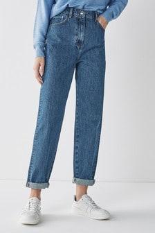 Blue Mid Wash Balloon Leg Jeans