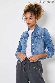 Mint Velvet Blue Authentic Indigo Denim Jacket