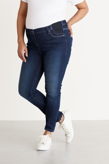Dark Blue Maternity Grow With You Skinny Jeans