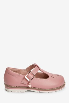 Pink Star Charm T-Bar Shoes (Younger)