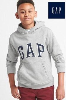 Gap Boys Grey Logo Hoody