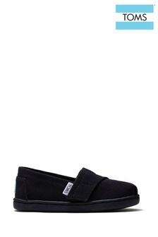 TOMS Tiny Alpargata Velcro Shoes
