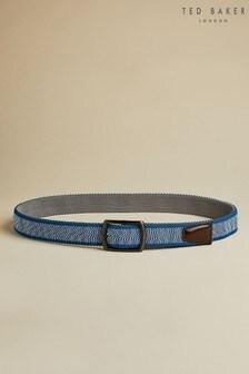 Ted Baker Blue Kiggle Reversible Woven Belt