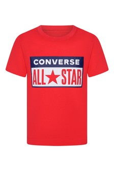 Boys Red Cotton All Star T-Shirt