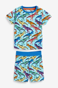 Bright Dinosaur Print Short Pyjamas (12mths-7yrs)
