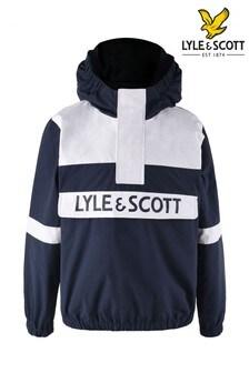 Lyle & Scott Blue Overhead Hooded Windcheater
