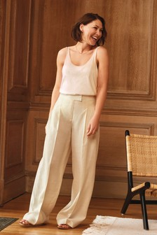 Cream Emma Willis Wide Leg Trousers