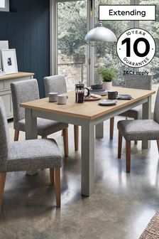 Dove Grey  Malvern 6-10 Seater Double Extending Dining Table
