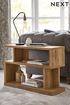 Oak Effect Bronx Sofa Side Table