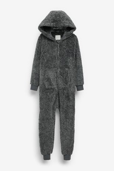 Grey Soft Touch Fleece All-In-One (3-16yrs)