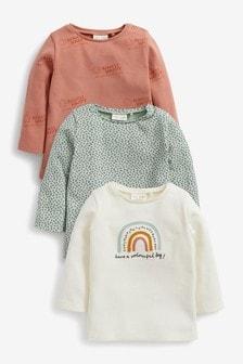 Multi 3 Pack Organic Cotton Rainbow T-Shirts (0mths-2yrs)