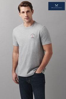Crew Clothing Company Grey Summerleaze Graphic T-Shirt