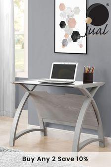 Helsinki 900 Grey Laptop Table By Jual
