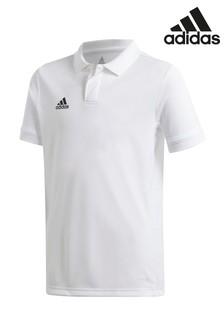 adidas White Training Polo