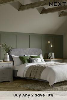 Opulent Velvet Steel Matson Bed