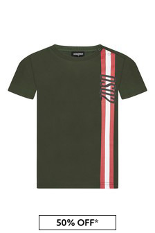 Dsquared2 Kids Baby Boys Green Cotton T-Shirt