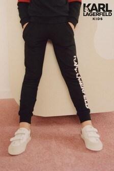 Karl Lagerfeld Kids Black Joggers