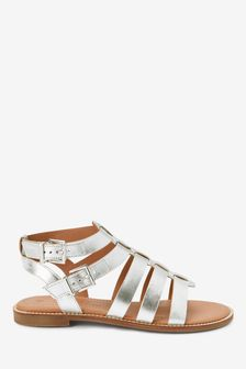 Silver Forever Comfort® Gladiator Sandals